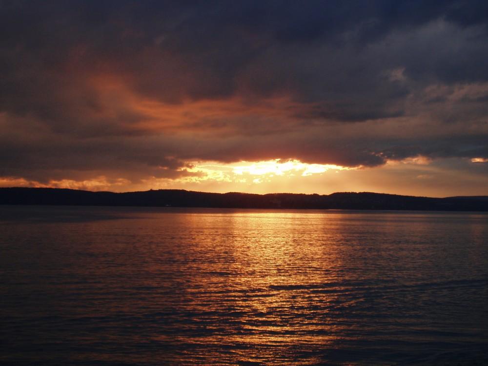 Goldener Bodensee - Blick Mainau Sonnenuntergang